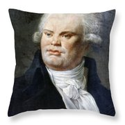 Georges-jacques Danton (1759-1794) Throw Pillow