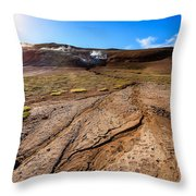 Geothermal Field Throw Pillow