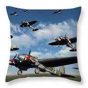German Heinkel Bombers Taking Throw Pillow