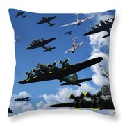 German Sonderkommandos Ram Allied Throw Pillow