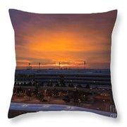 German Sunrise Throw Pillow