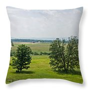 Gettysburg Battlefield Throw Pillow