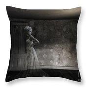 Ghost Bride Throw Pillow by Diane Diederich