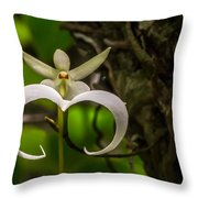 Ghost Orchid Throw Pillow