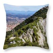Gibraltar Rock Throw Pillow