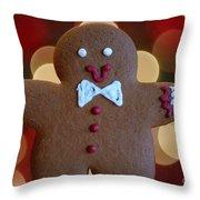 Ginger-bokeh Throw Pillow