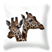 Giraffes Throw Pillow