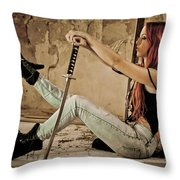 Girl Power Throw Pillow
