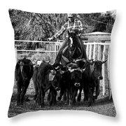 Git Along Dogies Bw Throw Pillow