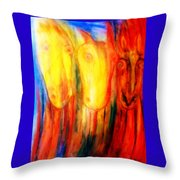 Give Us Hay Or Go Away  Throw Pillow