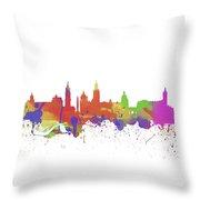 Glasgow Watercolor  Skyline  Throw Pillow