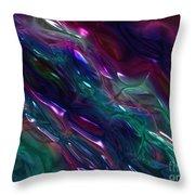 Glass Flow Throw Pillow