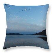 Glimmerglass Evening  Throw Pillow