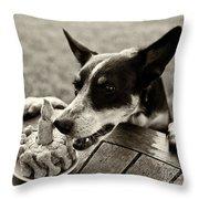 Gloeckchen's First Birthday Throw Pillow