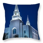 Glowing Cathedral Throw Pillow