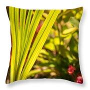 Glowing Iris Leaves 1 Throw Pillow