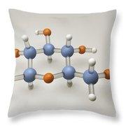 Glucose Molecule Throw Pillow