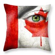 Go Canada Throw Pillow