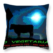 Go Vegetarian Throw Pillow