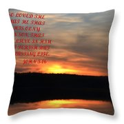 God Only Son Throw Pillow