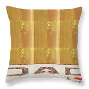 Gold Embossed Foil Art For Dad  Digital Graphic Signature   Art  Navinjoshi  Artist Created Images T Throw Pillow