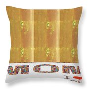 Gold Embossed Foil Art For Mom Digital Graphic Signature   Art  Navinjoshi  Artist Created Images Te Throw Pillow