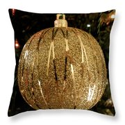Gold Ornament Throw Pillow