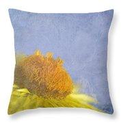 Golden Everlasting Daisy Throw Pillow