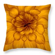 Golden Sunshine - Dahlia Throw Pillow