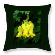 Golden Tears Vine Throw Pillow
