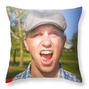 Golf Four And Out Cold Throw Pillow