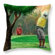 Golf Outing Throw Pillow