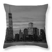 Good Morning New York City Throw Pillow