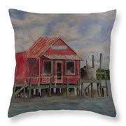 Goodyear Fish House #2 Throw Pillow