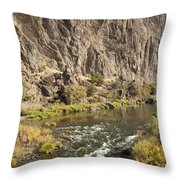 Goose Rock Above John Day River Oregon Throw Pillow