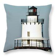 Goose Rocks Lighthouse Throw Pillow