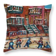 Gorgeous Day For A Game Throw Pillow