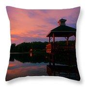 Gorton Pond Sunset Warwick Rhode Island Throw Pillow