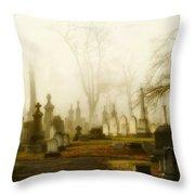 Gothic Autumn Morning Throw Pillow