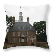 Governers Palace Colonial Williamsburg Throw Pillow