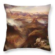 Grand Canyon Of The Colorado River Throw Pillow