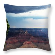 Grand Canyon Storm Throw Pillow
