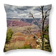 Grand Canyon View From The South Rim Throw Pillow