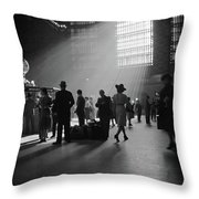 Grand Central Station, 1941 Throw Pillow