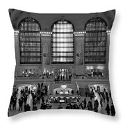 Grand Central Station Bw Throw Pillow