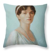 Grand Duchess Olga Nikolaevna Of Russia Throw Pillow