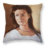 Grand Duchess Tatiana Nikolaevna Of Russia Throw Pillow