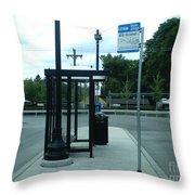 Grand/nordica Cta Bus Terminal Throw Pillow