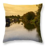 Grand Union Canal In Berkhampsted Throw Pillow
