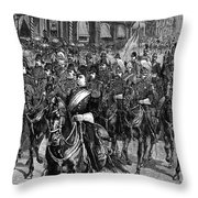Grant Funeral, 1885 Throw Pillow